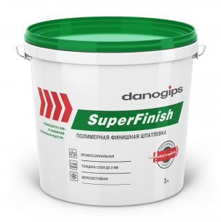 Шпатлевка Danogips SuperFinish 5 кг (17 л)