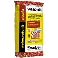WEBER.VETONIT Ultra Fix Клей для фасадной облицовки, 25 кг