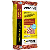 WEBER.VETONIT Ultra Fix Winter Клей для фасадной облицовки, 25 кг